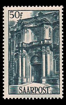 50 Fr Briefmarke: Saar III, Wiederaufbau des Saarlandes