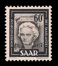 60 C Briefmarke: Saar IV, Industrie, Handel, Landwirtschaft und Kultur