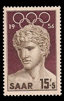 15+ 5 Fr Briefmarke: Olympische Sommerspiele 1956