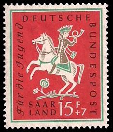 15+ 7 Fr Briefmarke: Für die Jugend, Volkslieder