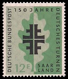 12 Fr Briefmarke: 150 Jahre Deutsches Turnen