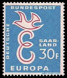 30 Fr Briefmarke: Europamarke 1958