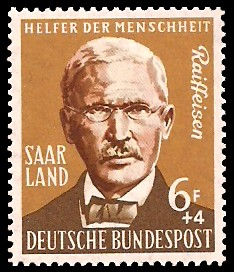 6+ 4 Fr Briefmarke: Helfer der Menschheit, Landwirtschaft