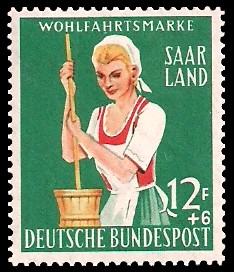12+ 6 Fr Briefmarke: Wohlfahrtsmarke, Landwirtschaft