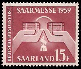 15 Fr Briefmarke: Saarmesse 1959