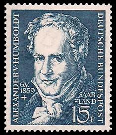 15 Fr Briefmarke: 100. Todestag Alexander von Humboldt