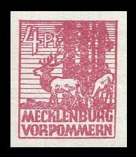 4 Pf Briefmarke: Freimarken Abschiedsausgabe, Rothirsche