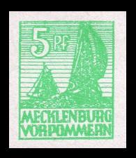 5 Pf Briefmarke: Freimarken Abschiedsausgabe, Fischerboote