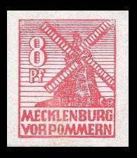 8 Pf Briefmarke: Freimarken Abschiedsausgabe, Windmühle