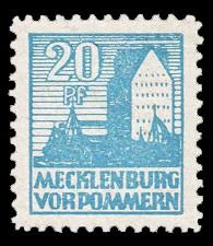20 Pf Briefmarke: Freimarken Abschiedsausgabe, Getreidespeicher