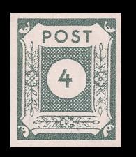 4 Pf Briefmarke: Ziffernserie VI