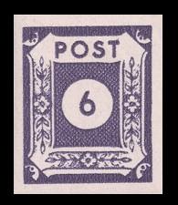 6 Pf Briefmarke: Ziffernserie VI