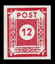 12 Pf Briefmarke: Ziffernserie VI