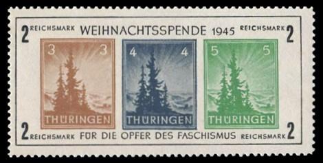 2 RM Briefmarke: Block: Weihnachtsspende, Opfer des Faschismus