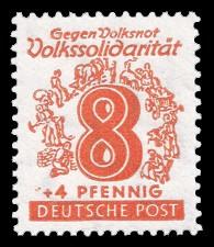 8 + 4 Pf Briefmarke: Volkssolidarität