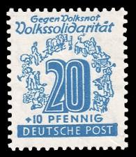 20 + 10 Pf Briefmarke: Volkssolidarität