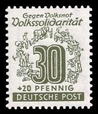 30 + 20 Pf Briefmarke: Volkssolidarität