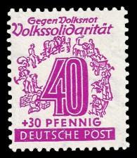 40 + 30 Pf Briefmarke: Volkssolidarität