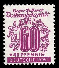 60 + 40 Pf Briefmarke: Volkssolidarität