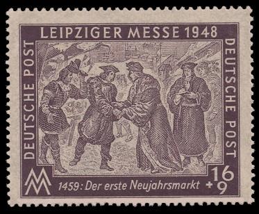 16 + 9 Pf Briefmarke: Leipziger Herbstmesse 1948