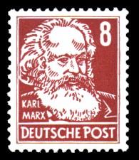 8 Pf Briefmarke: Persönlichkeiten, Karl Marx