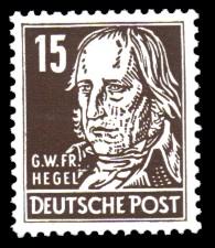 15 Pf Briefmarke: Persönlichkeiten, Georg Hegel