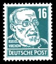 16 Pf Briefmarke: Persönlichkeiten, Rudolf Virchow