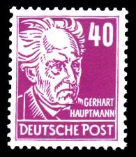 40 Pf Briefmarke: Persönlichkeiten, Gerhart Hauptmann