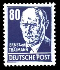 80 Pf Briefmarke: Persönlichkeiten, Ernst Thälmann