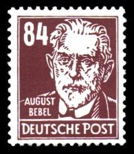 84 Pf Briefmarke: Persönlichkeiten, August Bebel