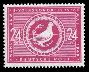 24 Pf Briefmarke: Wahl zum 3. Volkskongress