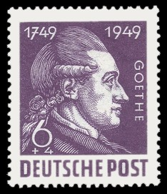 6 + 4 Pf Briefmarke: 200. Geburtstag Johann Wolfgang von Goethe