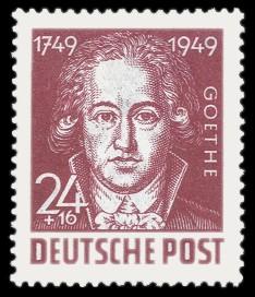 24 + 16 Pf Briefmarke: 200. Geburtstag Johann Wolfgang von Goethe
