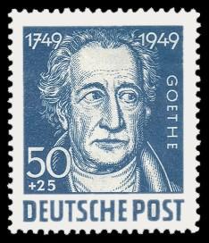 50 + 25 Pf Briefmarke: 200. Geburtstag Johann Wolfgang von Goethe