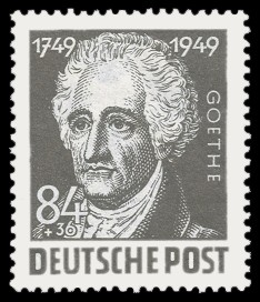 84 + 36 Pf Briefmarke: 200. Geburtstag Johann Wolfgang von Goethe
