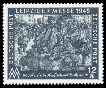 12 + 8 Pf Briefmarke: Leipziger Herbstmesse 1949