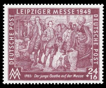 24 + 16 Pf Briefmarke: Leipziger Herbstmesse 1949