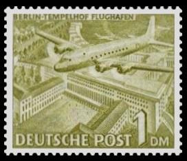 1 DM Briefmarke: Berliner Bauten