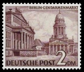 2 DM Briefmarke: Berliner Bauten