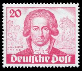 20 Pf Briefmarke: 200. Geburtstag von Johann Wolfgang von Goethe