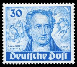 30 Pf Briefmarke: 200. Geburtstag von Johann Wolfgang von Goethe