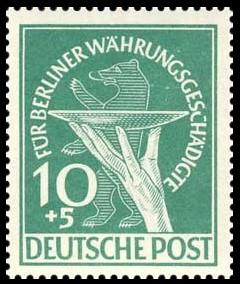 10+5 Pf Briefmarke: Berliner Währungsgeschädigte