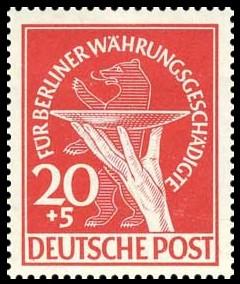 20+5 Pf Briefmarke: Berliner Währungsgeschädigte