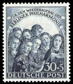 30 + 5 Pf Briefmarke: Wiederaufbau der Berliner Philharmonie