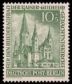 10 + 5 Pf Briefmarke: Kaiser-Wilhelm-Gedächtniskirche