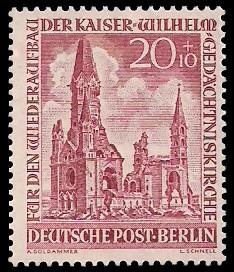 20 + 10 Pf Briefmarke: Kaiser-Wilhelm-Gedächtniskirche