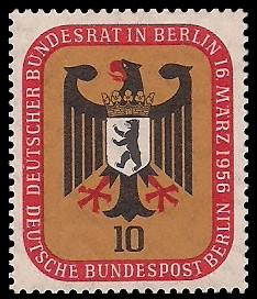 10 Pf Briefmarke: Deutscher Bundesrat in Berlin