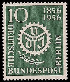 10 Pf Briefmarke: 100 Jahre Verein Deutscher Ingenieure