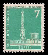 7 Pf Briefmarke: Berliner Bauten