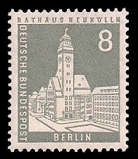 8 Pf Briefmarke: Berliner Bauten